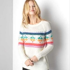 American Eagle Fair Isle Jegging Sweater Large